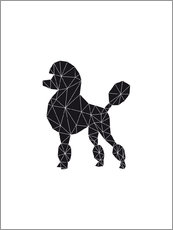 Vinilo para la pared  Black Poodle - Nouveau Prints