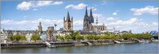 Vinilo para la pared  Cologne Rheinufer with cathedral and town hall - Jan Christopher Becke
