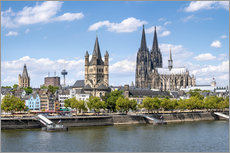 Vinilo para la pared  City view of Cologne in summer, North Rhine-Westphalia, Germany - Jan Christopher Becke