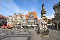 Vinilo para la pared  Historic Market Square in Bremen with Roland Statue - Jan Christopher Becke