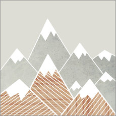 Vinilo para la pared  Concrete mountains 2 - Mia Nissen