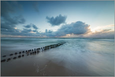 Cuadro de plexi-alu  Groyne in the evening on Sylt (long exposure) - Heiko Mundel