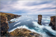 Vinilo para la pared  Yesnaby Cliffs on Orkney Islands - Reemt Peters-Hein