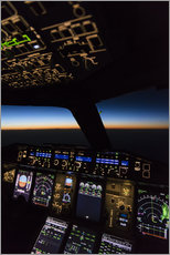 Vinilo para la pared  Airbus A380 Cockpit Twilight - Ulrich Beinert