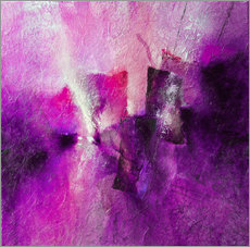 Vinilo para la pared abstract composition with magenta