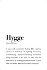 Vinilo para la pared  Definición de hygge (inglés) - Pulse of Art