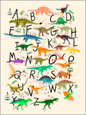 Cuadro de plexi-alu  Dino Alphabet - Kidz Collection