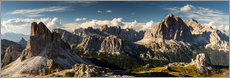 Póster Panorama accidentado de los Dolomitas