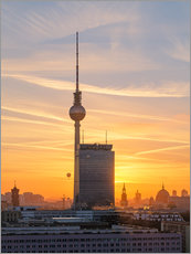 Póster Berlin TV tower at sunset