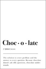 Póster  Definición de chocolate (inglés) - Pulse of Art