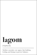 Póster Lagom Definition