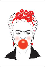 Martina illustration - Frida Kahlo con chicle