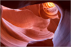 Póster Rock formation in the Lower Antelope Canyon