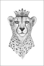 Lienzo  The Queen Cheetah - Valeriya Korenkova