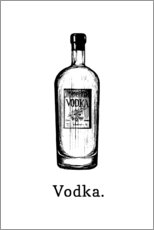 Póster  Botella de vodka - Typobox