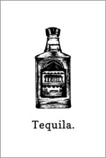 Vinilo para la pared  Botella de tequila - Typobox