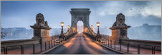 Póster  Chain Bridge in Budapest, Hungary - Jan Christopher Becke