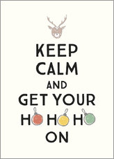 Cuadro de madera  Keep calm and get Your Hohoho on - Typobox