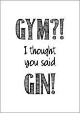 Póster  Gym or Gin - Typobox