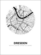 Cuadro de plexi-alu  City map of Dresden - 44spaces