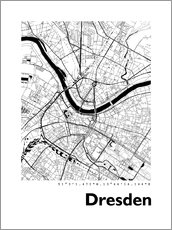 Cuadro de aluminio  City map of Dresden - 44spaces