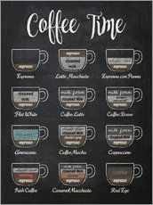 Vinilo para la pared  Coffee time - Typobox