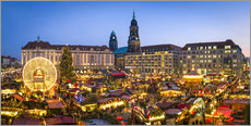 Póster Striezelmarkt in Dresden, Saxony, Germany