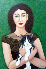 Póster Woman with cat soul