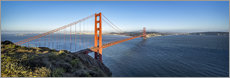 Cuadro de metacrilato  Golden Gate Bridge, San Francisco, USA - Jan Christopher Becke