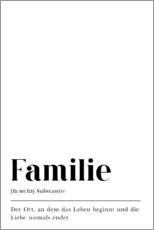 Póster Familie Definition