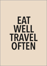 Póster  Eat well, travel often - Finlay and Noa