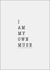 Póster I am my own muse