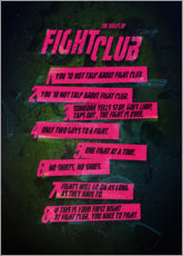 Póster Fight Club Rules