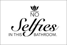 Póster  No selfies in the bathroom - Typobox