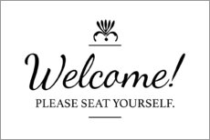 Lienzo  Please seat yourself - Typobox