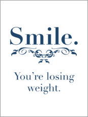 Cuadro de plexi-alu  Smile, you're losing weight - Typobox