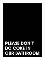 Cuadro de plexi-alu  Please don't do coke - Typobox