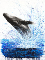 Póster Whale Ocean Waves