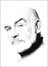 Póster Retrato de Sean Connery