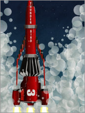 Póster Thunderbird 3 Space Rocket Launch
