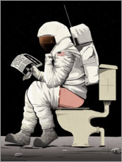 Póster Astronaut on the toilet