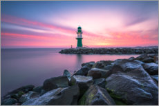 Póster  Westmole Warnemünde at sunrise - Robin Oelschlegel