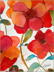 Lienzo  Pink And Orange Floral II - Ruth Palmer
