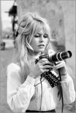 Cuadro de metacrilato  Brigitte Bardot con camara - Celebrity Collection