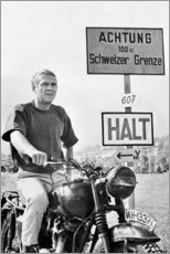 Cuadro de madera  Steve McQueen - Celebrity Collection