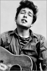 Lienzo  Bob Dylan con guitarra - Celebrity Collection