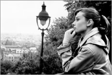 Lienzo  Audrey Hepburn mirando al infinito - Celebrity Collection