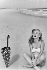 Cuadro de metacrilato  Marilyn Monroe en la playa - Celebrity Collection