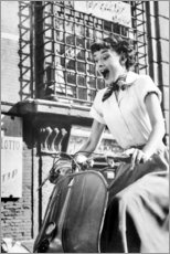 Cuadro de PVC  Audrey Hepburn en Vespa - Celebrity Collection