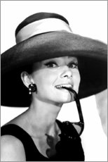 Cuadro de metacrilato  Audrey Hepburn en traje de verano - Celebrity Collection